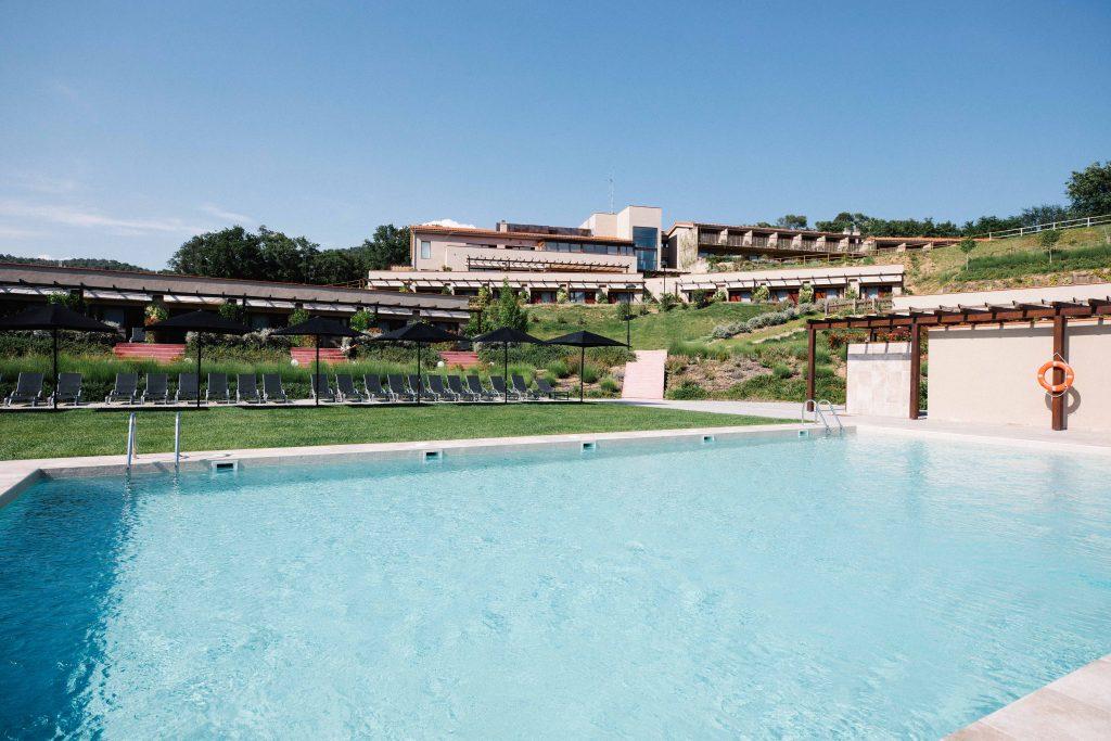 Swimming pool at Mas Salagros EcoResort