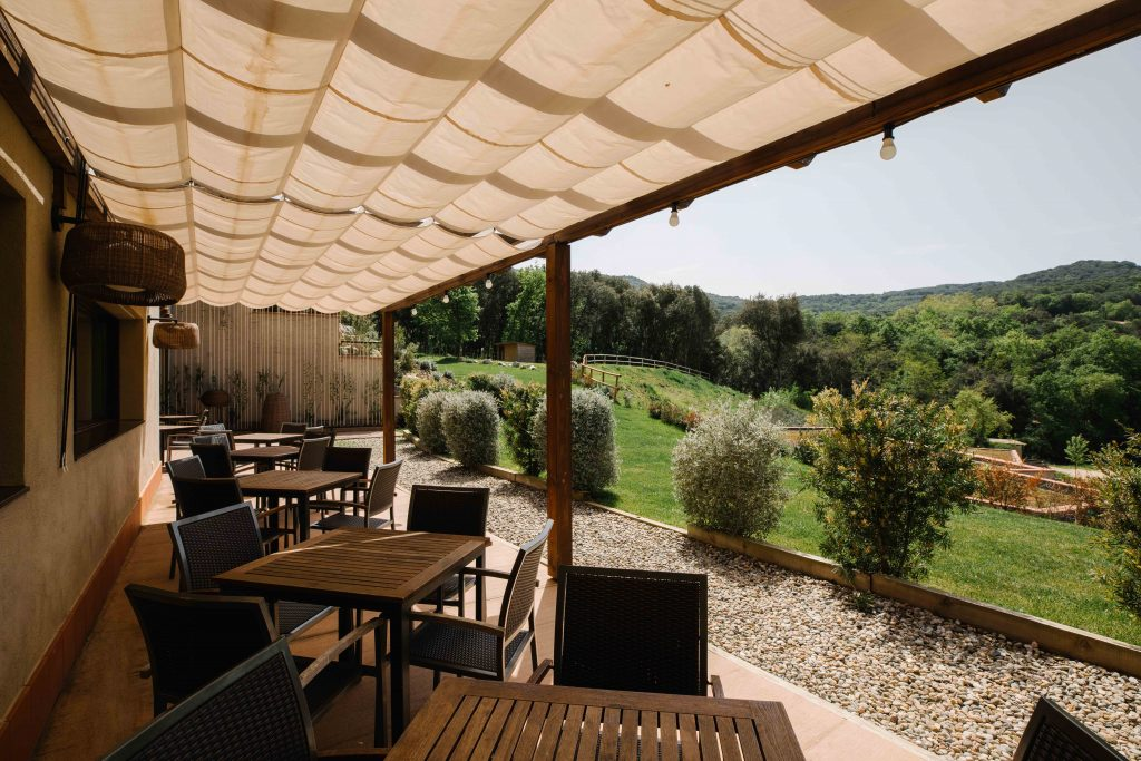 Photo of a Terrace at Mas Salagros EcoResort