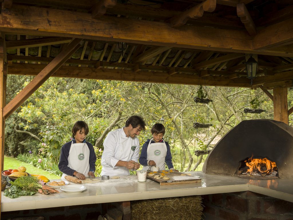 Cooking lessons at Hacienda Zuleta as advertised by Kiwano Hotels