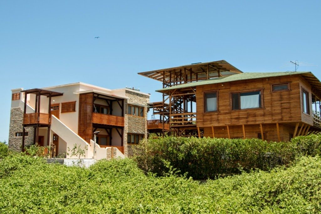 Exterior of Chez Manany Galápagos Ecolodge in Ecuador as advertised by Kiwano Hotels