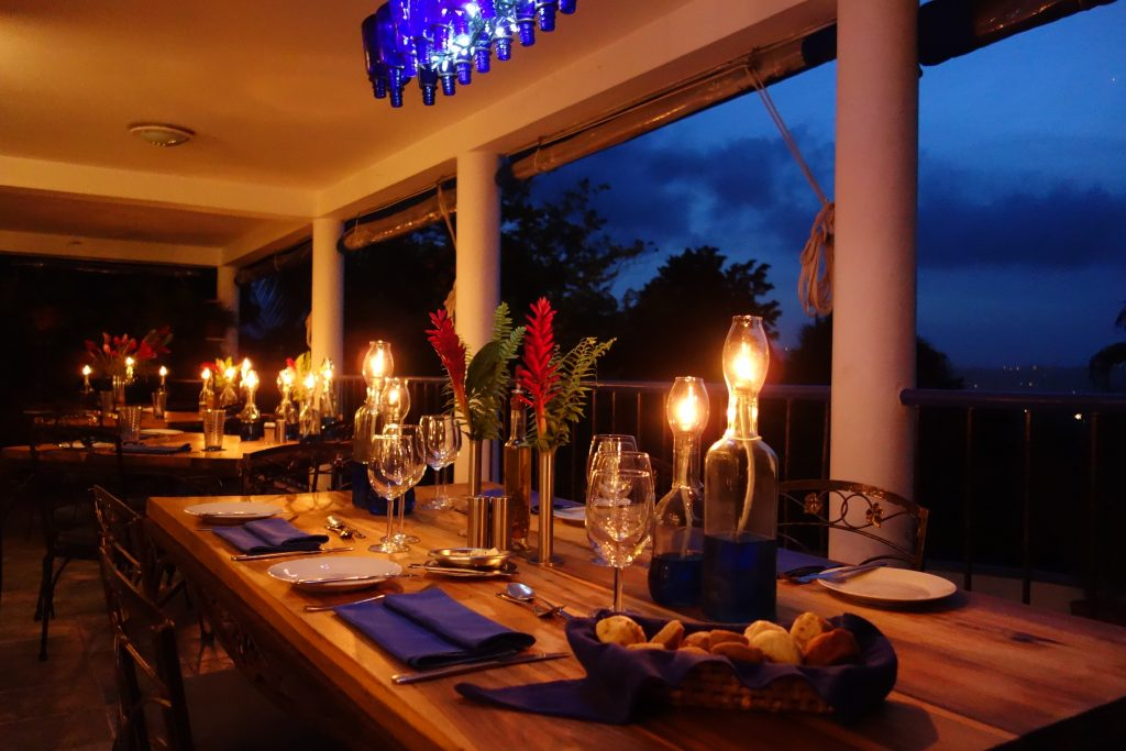 Mille Fleurs Restaurant at the Hotel Mockingbird Hill in Jamaica as advertised by Kiwano Hotels