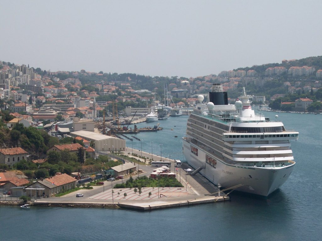 Cruise ship in Dubrovnik